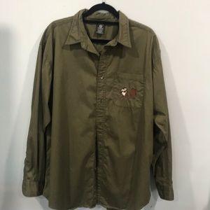 Warner Brothers Tazmanian Button down shirt